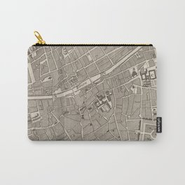 Vintage Map of Dublin Ireland (1764) Carry-All Pouch