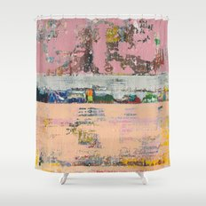 Dogbane Pink Abstract Painting Print Shower Curtain