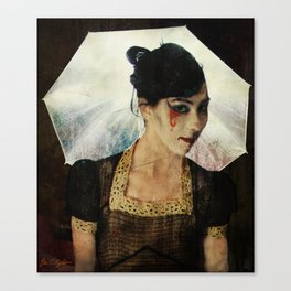Teresa as Vintage Mime in Light Canvas Print