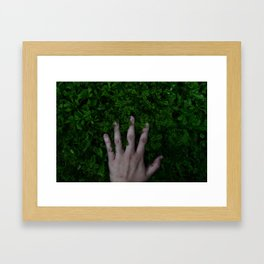 Manus in Herba Framed Art Print
