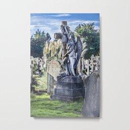 Cemetery Headstone Metal Print