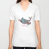 cheshire cat V-neck T-shirts featuring Cheshire cat by Pendientera