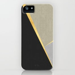Textures and gold iPhone Case