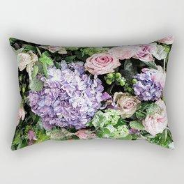 Composition. Multicolor flower Rectangular Pillow