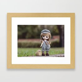 Baby & Puppy Framed Art Print