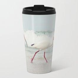 Three Little Ibis All in a Row Travel Mug