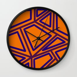 In Town - Yellowed Orange Wall Clock