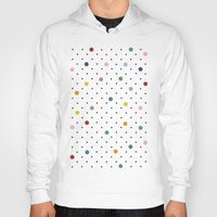 polka dot Hoodies featuring Pin Points Polka Dot by Project M