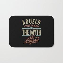 Abuelo The Myth The Legend Bath Mat