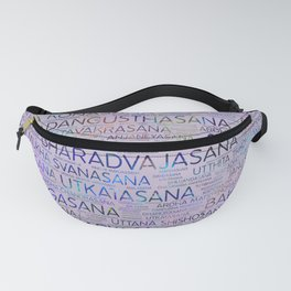 Yoga Asanas/Poses Sanskrit Word Art Fanny Pack