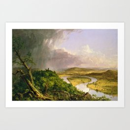 The Oxbow (Connecticut River near Northampton) by Thomas Cole Art Print