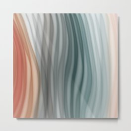 Pretty Pastel Bands Metal Print