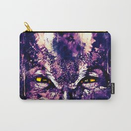 great horned owl bird close up wsfn Carry-All Pouch