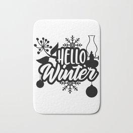 Hello Winter Bath Mat