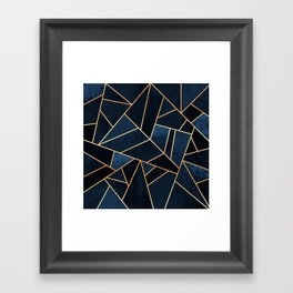 Navy Stone Framed Art Print