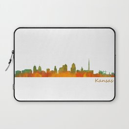 Kansas City Skyline Hq v1 Laptop Sleeve