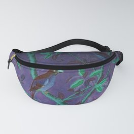 Aubergine & Teal Chinoiserie Fanny Pack