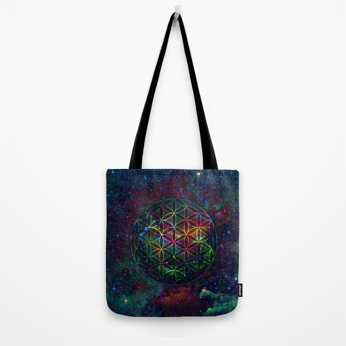 Flower of Life in the Universe - Universe in the Flower of Life Tote Bag