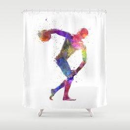 Discobolus Shower Curtain