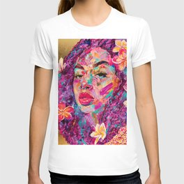 PURPLE PLUMERIA T-shirt