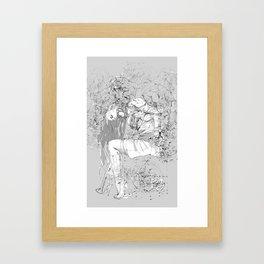 Lady in Peonies Framed Art Print