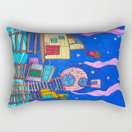 Tipsy Houses I Rectangular Pillow