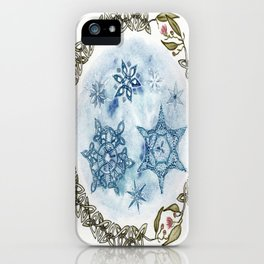 Christmas Celtic Knot Australian Gumnut Mandala Watercolor Pencil Painting iPhone Case