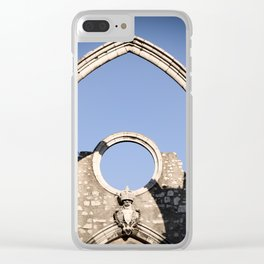 Carmo Ruins Surviving Arch Clear iPhone Case