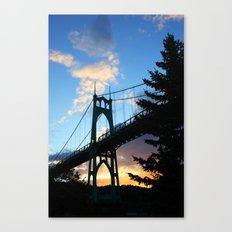 St Johns Bridge. Canvas Print