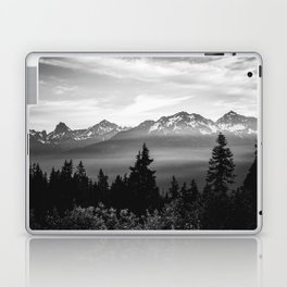 Morning in the Mountains Black and White Laptop & iPad Skin