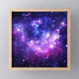 Purple Blue Galaxy Nebula Framed Mini Art Print