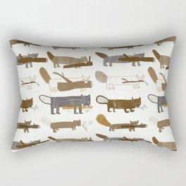 8 beavers Rectangular Pillow