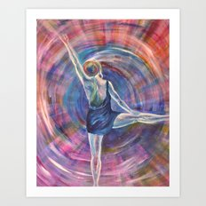 Dancing spirit Art Print