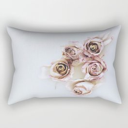 Flowered Milk Rectangular Pillow