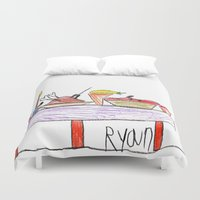 thanksgiving Duvet Covers featuring Thanksgiving Feast by Ryan van Gogh