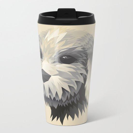 Cute Dog Metal Travel Mug