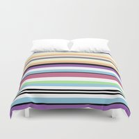 striped Duvet Covers featuring Striped by Katy Martin
