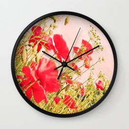 Poppies of Rememberance Wall Clock