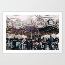 Jane's Carousel Art Print