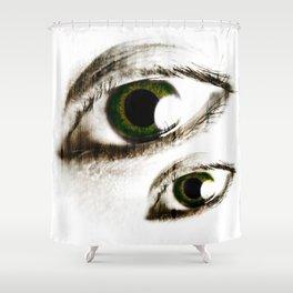 Green Eyes Shower Curtain