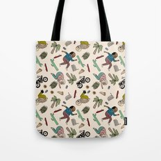 On the freedom experienced by Desert Bike Harpies.   Tote Bag