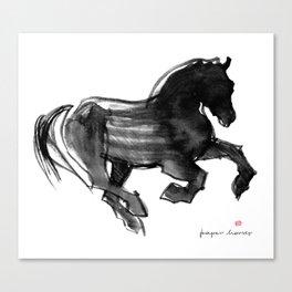 Horse (Devil cantering) Canvas Print