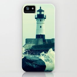 Breakwater Lighthouse - 2 iPhone Case