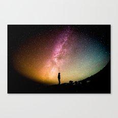 Stars teach me how to shine Canvas Print