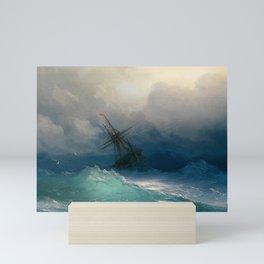 Ship on Stormy Seas, Seascape, Fine Art Print Mini Art Print
