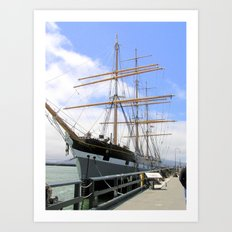 Great Ship in the San Francisco Bay Harbor Art Print