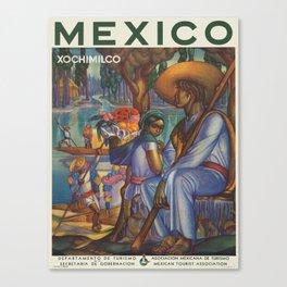 Vintage poster - Mexico Canvas Print