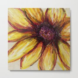 Large Sunflower Metal Print