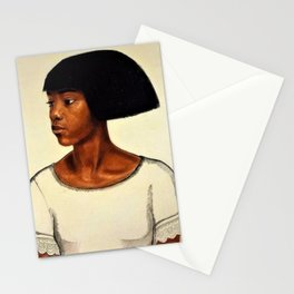 Classical African American Landscape ''Harlem Girl' by Winold Reiss Stationery Cards
