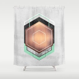Hexagon Abstract #1 Shower Curtain
